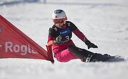 Tudegesheva E. during the women's Snowboard giant slalom of the FIS Snowboard World Cup 2017/18 in Rogla, Slovenia, on January 21, 2018. Photo by Urban Meglic / Sportida