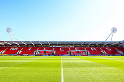 A general view inside the Aesseal New York Stadium, home to Rotherham United - Mandatory by-line: Ryan Crockett/JMP - 21/09/2019 - FOOTBALL - Aesseal New York Stadium - Rotherham, England - Rotherham United v Shrewsbury Town - Sky Bet League One
