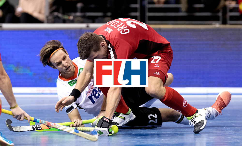 BERLIN - Indoor Hockey World Cup<br /> Quarterfinal 3: Germany - Switzerland<br /> foto: Marco Miltkau and GREDER Martin.<br /> WORLDSPORTPICS COPYRIGHT FRANK UIJLENBROEK