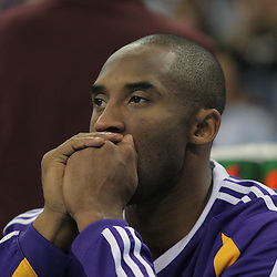12 November 2008: Los Angeles Lakers guard Kobe Bryant (24) during a 93-86 win by the Los Angeles Lakers over the New Orleans Hornets at at the New Orleans Arena in New Orleans, LA..