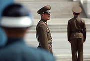 Panmunjom border between North and South Korea<br />