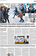Osborne the editor makes a splash with first-day exposure of government's woes