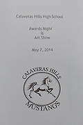 Calaveras Hills High School Awards Night & Art Show program, photographed at Calaveras Hills High School in Milpitas, California, on May 7, 2014. (Stan Olszewski/SOSKIphoto)
