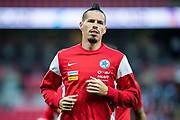 Slovakia (17) Marek HAMSIK (C)  during the warm up before the FIFA World Cup Qualifier match between England and Slovakia at Wembley Stadium, London, England on 4 September 2017. Photo by Sebastian Frej.