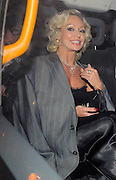 05.OCTOBER.2009. LONDON<br /> <br /> STRICTLY COME DANCING DANCER KRISTINA RIHANOFF LEAVING THE PRIDE OF BRITAIN AWARDS WHICH WERE HELD AT THE GROVSENOR HOUSE HOTEL. KRISTINA WEARING JOE CALZAGHE'S JACKET<br /> <br /> BYLINE: EDBIMAGEARCHIVE.COM<br /> <br /> *THIS IMAGE IS STRICTLY FOR UK NEWSPAPERS AND MAGAZINES ONLY*<br /> *FOR WORLD WIDE SALES AND WEB USE PLEASE CONTACT EDBIMAGEARCHIVE - 0208 954 5968*