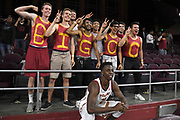Nov 8, 2019; Los Angeles, CA, USA; Southern California Trojans forward Onyeka Okongwu (21) poses with fans after the game against the Portland Pilots at Galen Center USC defeated Portland State 76-65.