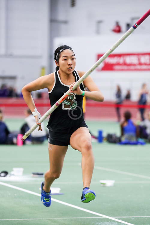 womens pole vault, Brown, Feng<br /> BU John Terrier Classic <br /> Indoor Track & Field Meet