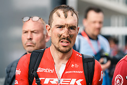 John DEGENKOLB of Trek-Segafredo after the 2018 Paris-Roubaix race, Velodrome Roubaix, France, 8 April 2018, Photo by Thomas van Bracht / PelotonPhotos.com | All photos usage must carry mandatory copyright credit (Peloton Photos | Thomas van Bracht)