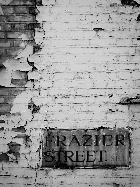 Frazier Street SE1 -  Waterloo. I have walked past this building and have always been amazed at the texture of the peeling paint.