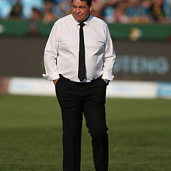 PRETORIA, SOUTH AFRICA - OCTOBER 06: Steve Hansen (Head Coach) of the New Zealand (All Blacks) during the Rugby Championship match between South Africa Springboks and New Zealand All Blacks at Loftus Versfeld Stadium. on October 6, 2018 in Pretoria, South Africa. (Photo by Steve Haag/Getty Images)