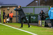 Forest Green Rovers manager, Mark Cooper gives instructions during the Vanarama National League match between Forest Green Rovers and Aldershot Town at the New Lawn, Forest Green, United Kingdom on 5 November 2016. Photo by Shane Healey.