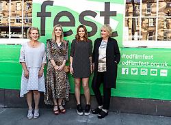 Cast and crew attend a special screening of Patrick at the Edinburgh International Film Festival.<br /> <br /> Directed by Maddie Fletcher it stars Beattie Edmondson<br /> <br /> Pictured: Vanessa Davies (producer), Beattie Edmondson (Sarah Francis), Amy Macdonald (Singer - soundtrack), Mandie Fletcher (Director)