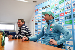 Tomi Trbovc and Gorazd Bertoncelj at presentation of new nordic ski team coach Gorazd Bertoncelj at press conference of Slovenska smucarska zveza, on April 5, 2018 in Smucarska zveza Slovenije, Ljubljana, Slovenia. Photo by Matic Klansek Velej / Sportida