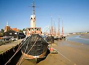 Historic old sailing boats, Hythe quay, Maldon, Essex, England