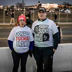 `Supporters of President Elect Donald J. Trump are pictured following a pre-inauguration rally at the Lincoln Memorial in Washington, D.C., Thursday Jan. 19, 2017. ( William B. Plowman / REDUX Photo )