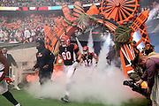 Cincinnati Bengals enter Wembley Stadium during the International Series match between Washington Redskins and Cincinnati Bengals at Wembley Stadium, London, England on 30 October 2016. Photo by Jason Brown.