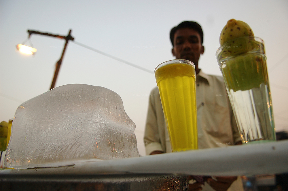 Cold drink for sale at the Jama masjid in Old Delhi