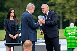 Milan Mandaric and Rade Mijatovic during official draw for Slovenian first football league for season 2018-2019, on June 21, 2018 in Nacionalni nogometni center Brdo pri Kranju, Kranj, Slovenia. Photo by Ziga Zupan / Sportida