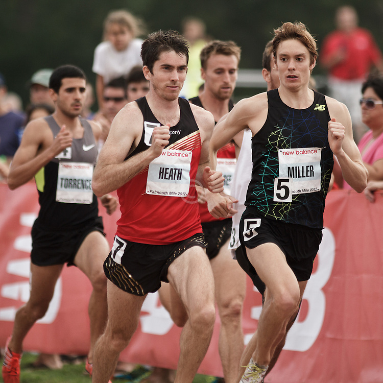 Falmouth Road Race: Falmouth Elite Mile race, Garrett Heath and Craig Miller compete