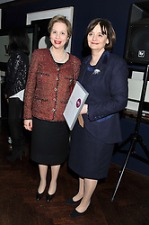Left to right, PRINCESS LALLA JOUMALA ALAOUI and CHERIE BLAIR at the annual WIE (Women: inspiration and enterprise) Awards held after the WIE Symposium... A day of inspirational talks by thought leaders and opinion formers to give young women the tools to succeed in business and life held at The Hospital Club, Endell Street, London on 8th March 2012.