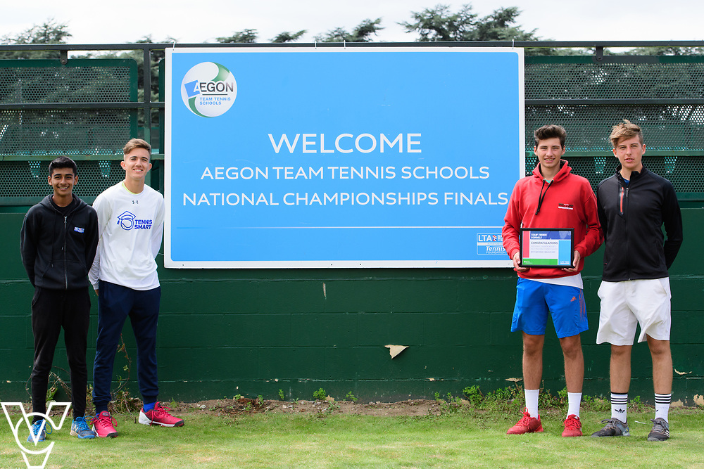 Cheam High School<br /> <br /> Team Tennis Schools National Championships Finals 2017 held at Nottingham Tennis Centre.  <br /> <br /> Picture: Chris Vaughan Photography for the LTA<br /> Date: July 14, 2017