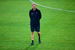 SEVILLE, SPAIN - Monday, November 20, 2017: Liverpool's manager Jürgen Klopp during a training session ahead of the UEFA Champions League Group E match between Sevilla FC and Liverpool FC at the Estadio Ramón Sánchez Pizjuán. (Pic by David Rawcliffe/Propaganda)