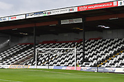 Grimsby Town the Mariners black and white seating during the EFL Sky Bet League 2 match between Grimsby Town FC and Oldham Athletic at Blundell Park, Grimsby, United Kingdom on 15 September 2018.