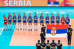 19-10-2018 JPN: Semi Final World Championship Volleyball Women day 20, Yokohama<br /> Serbia - Netherlands / Team Serbia
