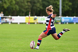 Sarah Graham of Bristol Ladies takes a kick at goal - Mandatory by-line: Craig Thomas/JMP - 17/09/2017 - Rugby - Cleve Rugby Ground  - Bristol, England - Bristol Ladies  v Richmond Ladies - Women's Premier 15s