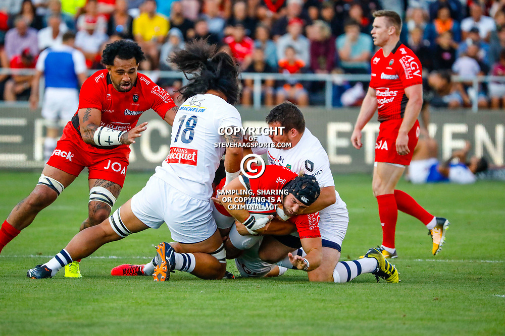 Jean Monribot of Toulon during the pre-season match between Rc Toulon and Clermont Auvergne at Felix Mayol Stadium on August 11, 2017 in Toulon, France. (Photo by Guillaume Ruoppolo/Icon Sport)