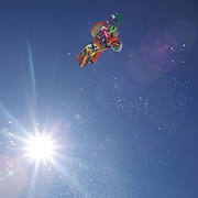 Roope Tonteri, Finland, in action during the Snowboard Slopestyle Men's competition at Snow Park, New Zealand during the Winter Games. Wanaka, New Zealand, 21st August 2011. Photo Tim Clayton