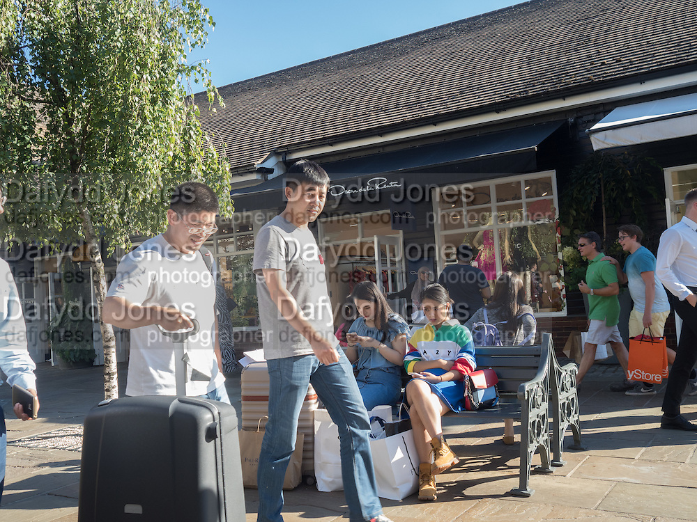 Shoppers, Bicester Village. 26August 2016
