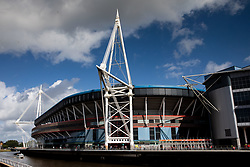 A general view of Principality Stadium, home of Wales<br /> <br /> Photographer Simon King/Replay Images<br /> <br /> Friendly - Wales v England - Saturday 17th August 2019 - Principality Stadium - Cardiff<br /> <br /> World Copyright © Replay Images . All rights reserved. info@replayimages.co.uk - http://replayimages.co.uk