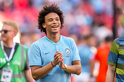 August 5, 2018 - Leroy Sané of Manchester City celebrates smiling during the 2018 FA Community Shield match between Chelsea and Manchester City at Wembley Stadium, London, England on 5 August 2018. (Credit Image: © AFP7 via ZUMA Wire)