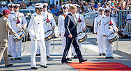 18-11-2013 CURACAO – WILLEMSTAD-  Dutch King Willem Alexander en Queen Maxima at Curacao at Fort Amsterdam  . They will visit all the 6 Dutch Islands. The royal couple will visit the Caribbean . COPYRIGHT ROBIN UTRECHT