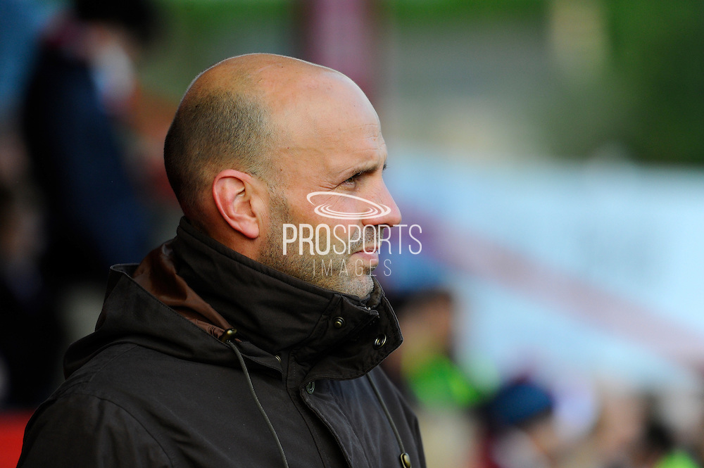 Exeter City manager Paul Tisdale during the Sky Bet League 2 match between Exeter City and Dagenham and Redbridge at St James' Park, Exeter, England on 2 January 2016. Photo by Graham Hunt.