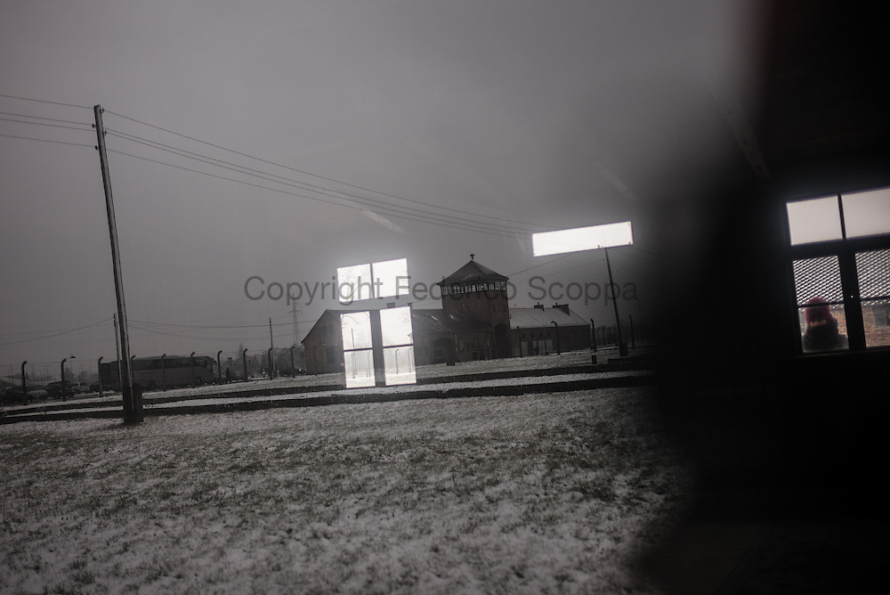 Theree kilometers form the main camp Auschwitz another camp was built: Auschwitz II Birkenau. The main door better known as the 'death gate'
