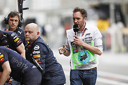 April 28, 2018 - Baku, Azerbaijan - MONTAGNY Franck (fra), TV presenter commentateur Canal+, portrait during the 2018 Formula One World Championship, Grand Prix of Europe in Azerbaijan from April 26 to 29 in Baku  (Credit Image: © Hoch Zwei via ZUMA Wire)