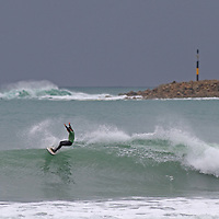 Surfing at the South Island Surfing Champs 2017 held at Aramoana, a small coastal settlement north of Dunedin City, the annual surfing event is run by local board riders club South Coast