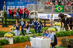 BRÜSEWITZ Thomas (GER), JACOBS Torben (GER), ZELESNY Jana (GER), CONGIA Chiara (GER), VAN GERVEN Justin (GER), KNAUF Corinna (GER), Danny Boy OLD<br /> Tryon - FEI World Equestrian Games™ 2018<br /> Team Geremany Norka des VV Koeln-Duennwald<br /> Nations Team Vaulting Championship<br /> 19. September 2018<br /> © www.sportfotos-lafrentz.de/Stefan Lafrentz