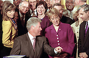 US President Bill Clinton during the signing ceremony for the Higher Education Act in the East Room of the White House October 7, 1998 in Washington, DC.