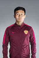 Portrait of Chinese soccer player Pei Yuwen of Yanbian Funde F.C. for the 2017 Chinese Football Association Super League, in Namhae County, South Gyeongsang Province, South Korea, 11 February 2017.