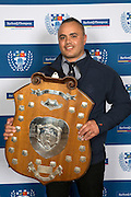 The Alan McEvoy Memorial Shield is for the team on the top of the table at the end of the premier round robin and in 2016 that team was College Rifles. Auckland Rugby Union Awards 2016, Eden Park, Auckland, New Zealand on Wednesday, October 26, 2016. Copyright photo: David Rowland / www.photosport.nz
