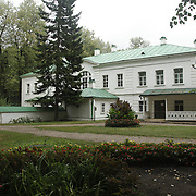 The former house of Russia's greatest novelist, Lev Tolstoy,  at his estate in Yasnaya Polyana, Russia.