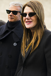 March 4, 2018 - Paris, France - Anna Dello Russo wears a black blazer jacket, black suit pants, sunglasses, outside Valentino, during Paris Fashion Week Womenswear Fall/Winter 2018/2019, on March 4, 2018 in Paris, France. (Credit Image: © Nataliya Petrova/NurPhoto via ZUMA Press)