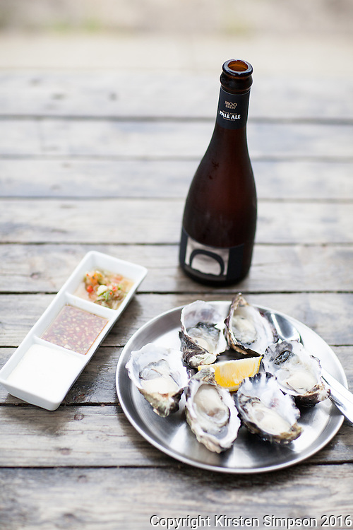 Oysters and Moo Brew