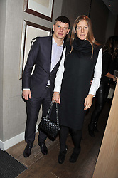 ANDREY & YULIA ARSHAVIN at a dinner hosted by Marlon & Nadya Abela at Cassis 232-236 Brompton Road, London to thank customers & friends for their custom held on 9th February 2012.
