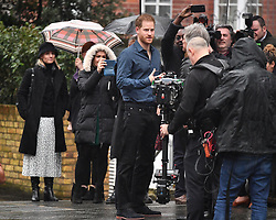 © Licensed to London News Pictures. 28/02/2020. London, UK. Prince Harry, Duke of Sussex is seen arriving at Abbey Road studios in London where he is due to to meet Jon Bon Jovi and members of the Invictus Games Choir, who are recording a special single in aid of the Invictus Games. Photo credit: Ben Cawthra/LNP