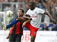 v.l. Daniyel Cimen, Boubacar Sanogo HSV<br /> Bundesliga Eintracht Frankfurt - Hamburger SV<br />  Norway only