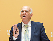 Liberal Democrat Leadership press conference. <br /> <br /> Vince Cable - new leader <br /> <br /> 20th July 2017 <br /> at The St Ermin&rsquo;s Hotel, London. Great Britain <br /> &nbsp;<br /> <br /> <br /> Photograph by Elliott Franks <br /> Image licensed to Elliott Franks Photography Services